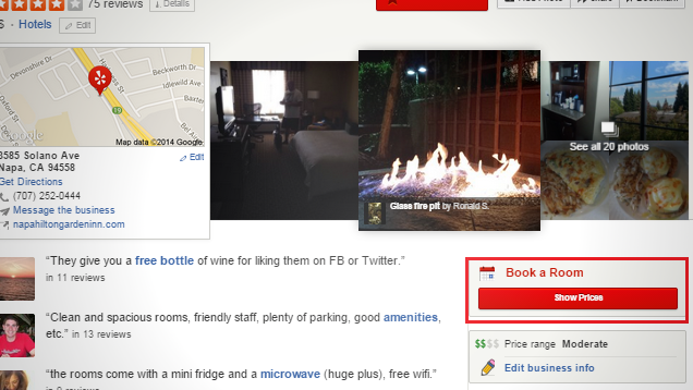 You Can Book Hotel Rooms Through the Yelp App and Site with Hipmunk