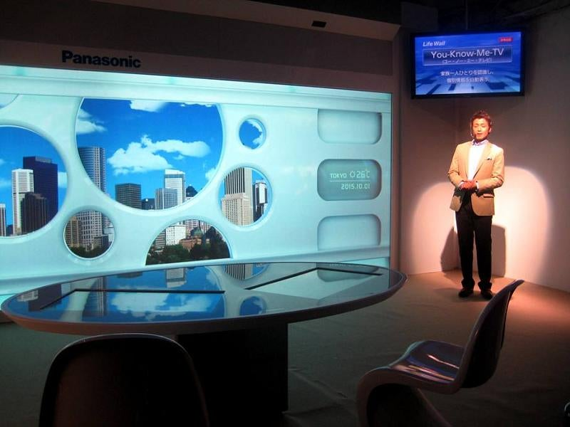 Panasonic Lifewall Is the All-Knowing Gesture-Controlled TV of the Future