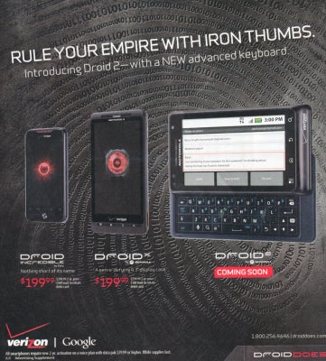 Spotted In a Newspaper Advert: the Unannounced Motorola Droid 2
