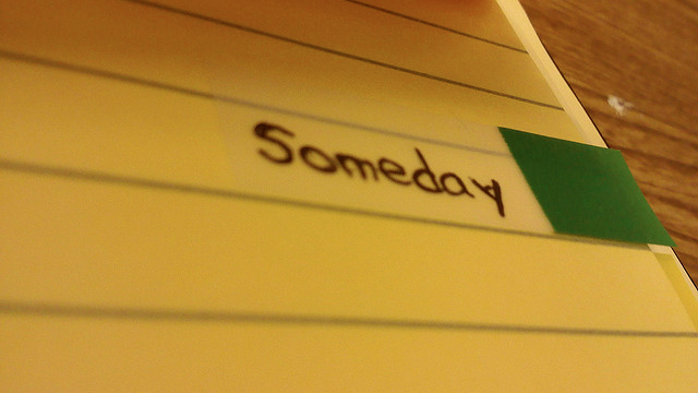 Turn Your Someday List into Research Tasks to Avoid Clutter and Guilt