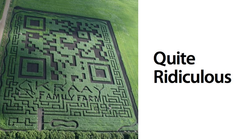 World's Largest QR Code Is Stupidly Pointless