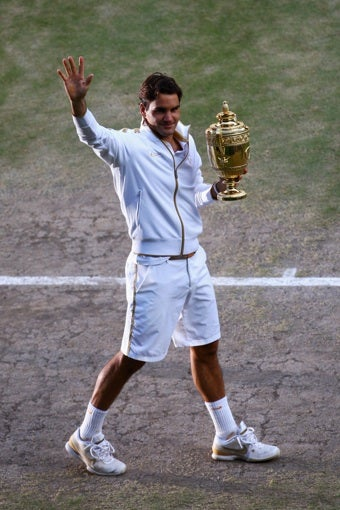 Federer Defeats Roddick To Win Wimbledon Title For The Sixth Time