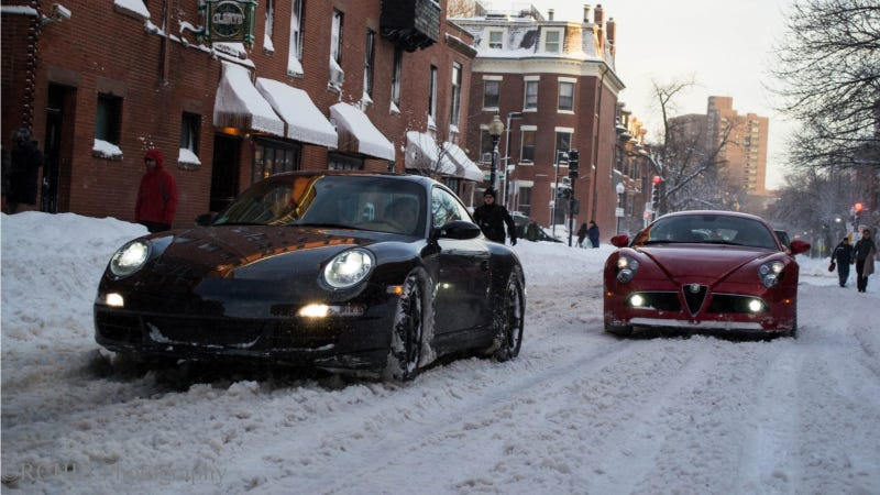 The Alfa Romeo 8C That Played In Snow Is Back, And It Brought A Friend