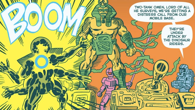 "The Kirby-inspired post-apocalyptic adventures of ""American Barbarian"""