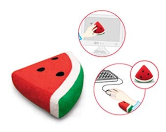 Watermelon Wrist Rest AND Screen Cleaner? Mind = Blown