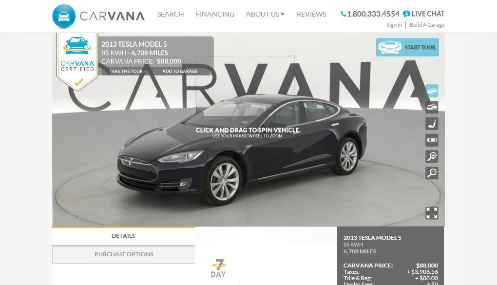 First Ever CPO Tesla Model S For Sale (Update)