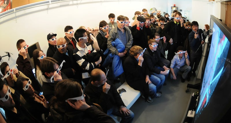 At Giz Gallery: Mars In 3D On Our Giant TV