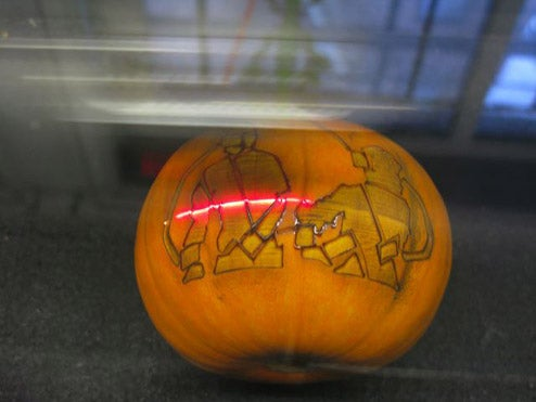 Lasers: The Only Way to Carve a Pumpkin