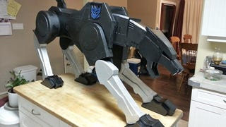 The Best Pet Ever Is a Life-Size Version of Ravage From <i>Transformers</i>