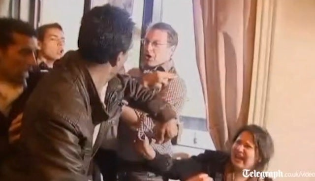 Libyan Woman Dragged from Press As She Tries to Tell of Her Rape