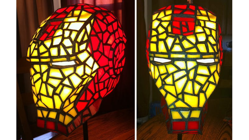 Stained Glass Iron Man Helmet Would Totally Class-Up Avengers HQ
