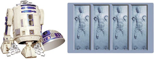 R2-D2 Ice Bucket with Han Solo Ice Molds Makes Any Drink Nerdier