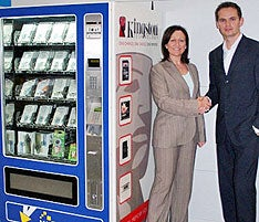 Kingston Joins Vending Machine Biz