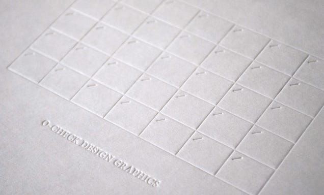 There's Not a Single Drop Of Ink On This Subtle Embossed Calendar