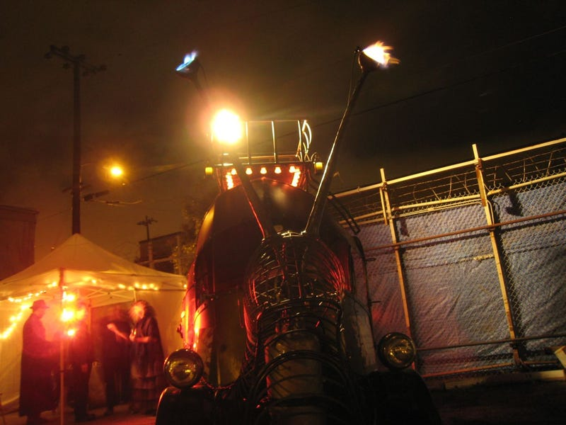 Fireballs, Accordions, And Art Cars At Oakland's Boiler Bar