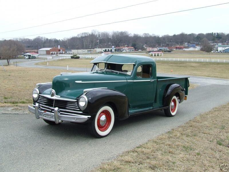 Suddenly, a Hudson pickup.