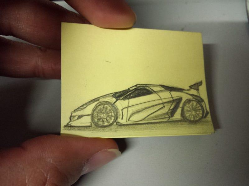 Mini Post-it Doodle time.