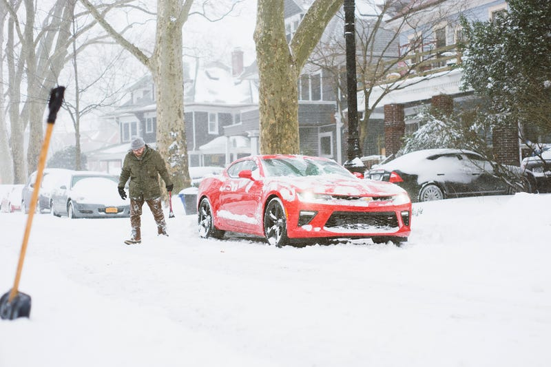 A 455 Horsepower V8 Camaro On Snow Tires Is The Best Worst Blizzard Car Ever
