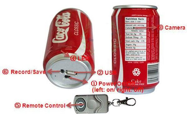 Coke Zero Has Zero Calories and Sugar, But Is High In Spy Cameras