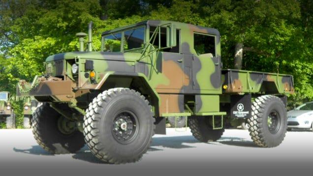 This 4x4 M35 Military Truck Is An Econobox Smashing Beast