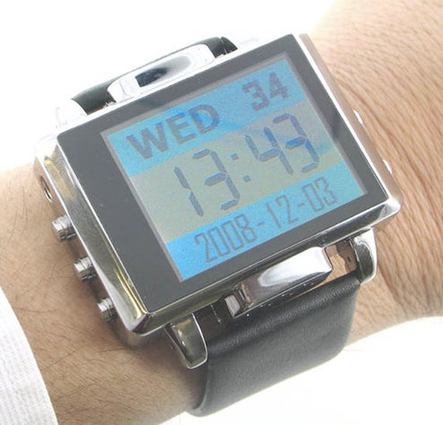 Tell Time, Snap Photos with Thanko MP4 Video Watch