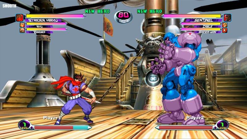 Marvel vs Capcom 2, Old Graphics vs New Graphics