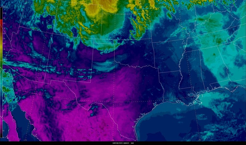 Today's Dust Storm in Texas Showed Up on Radar and Satellite
