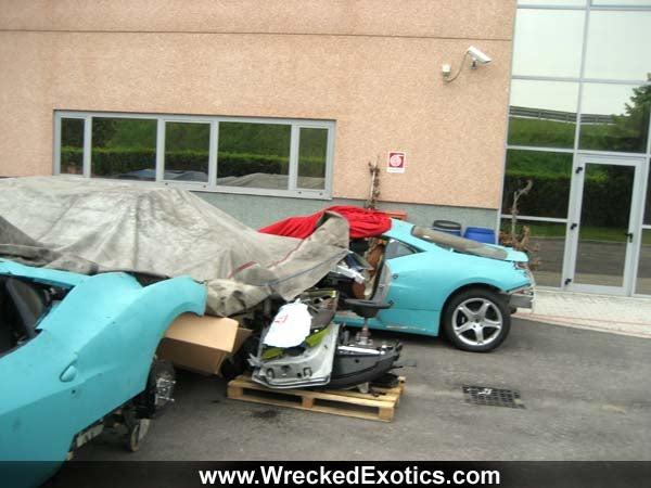 Wrecked Ferrari 458 Italias Hide Shame Under Tarps