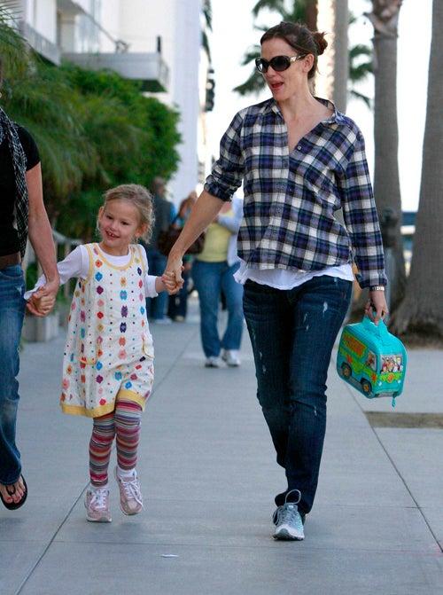 Jennifer & Violet Skip Home From School