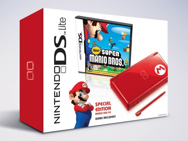 Ninendo DS In Red Mario Bros Limited Edition On Black Friday