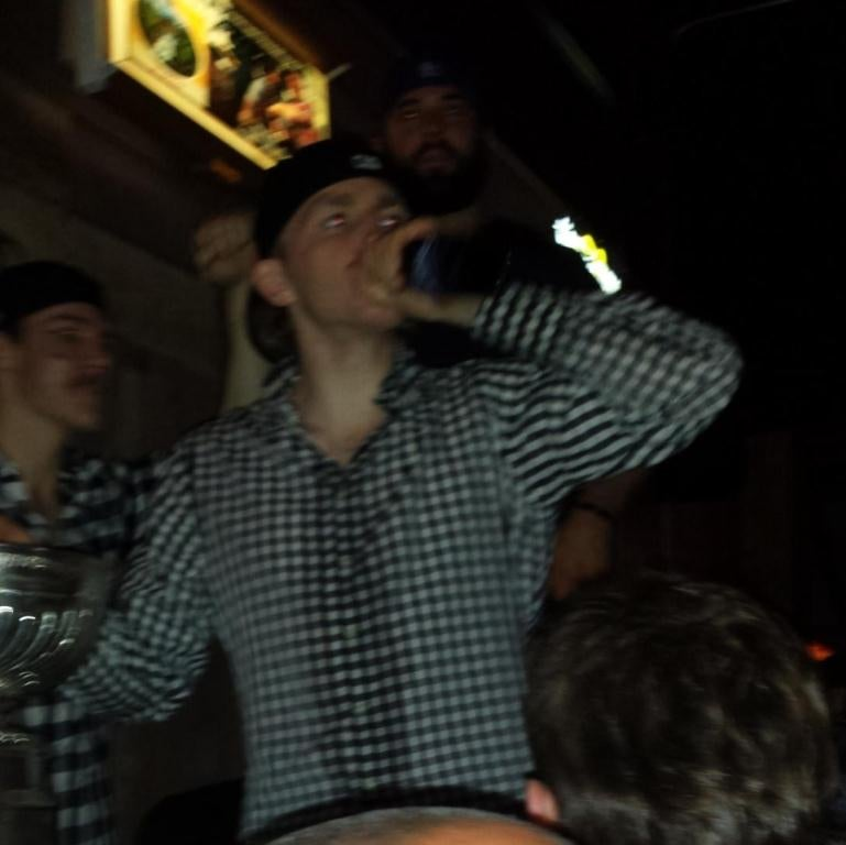 Here's Patrick Kane Partying And Spraying Champagne On People