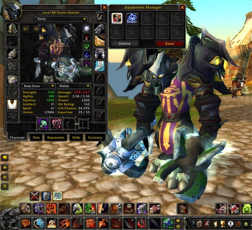 World Of Warcraft Equipment Manager Patched In