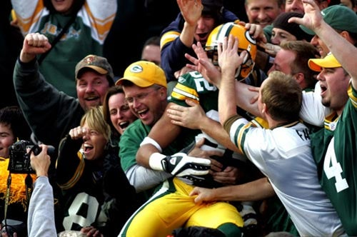 During The Lambeau Leap, Watch Your Nuts