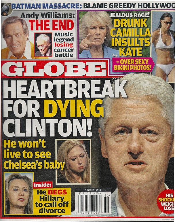 Globe Is on a Revolting Bill Clinton Deathwatch