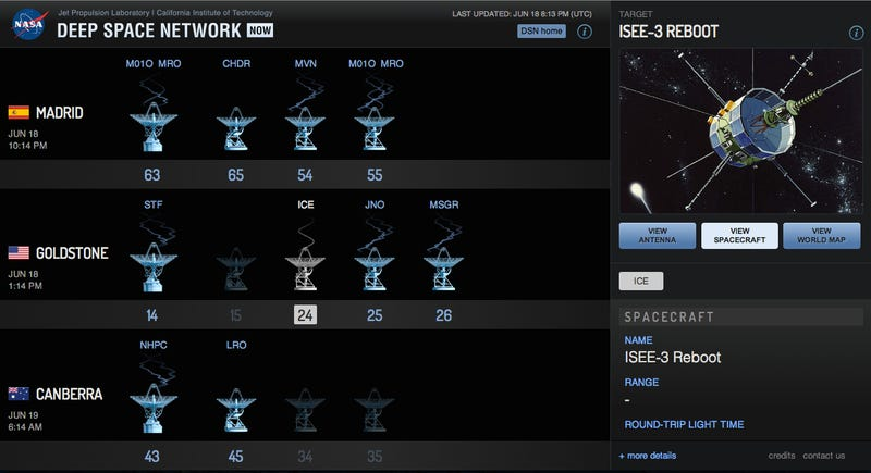 Locating Reclaimed Spacecraft with the Deep Space Network