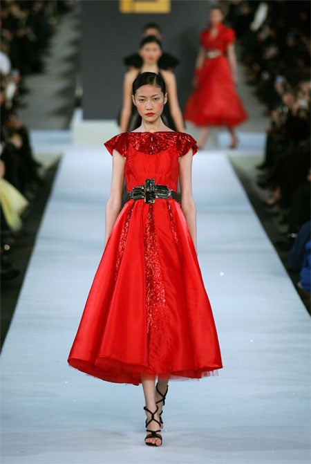 China Celebrates 58 Years Of Socialism With Great Wall Fashion Show, Kate Bosworth
