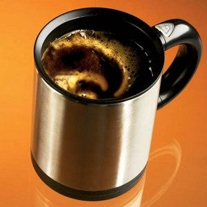 Self-Stirring Mug, For the Spoonless