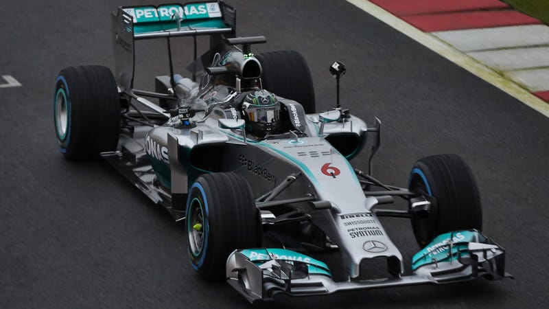 Play With This Street View-Style 3D Camera On The New Mercedes F1 Car
