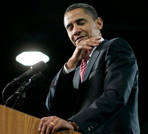 Obama: Gotta Get That Dirt Off Your Shoulder