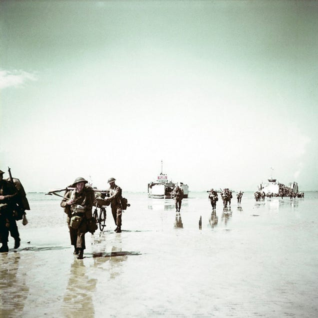 D Day Invasion Color Rare Color Film And Ph...