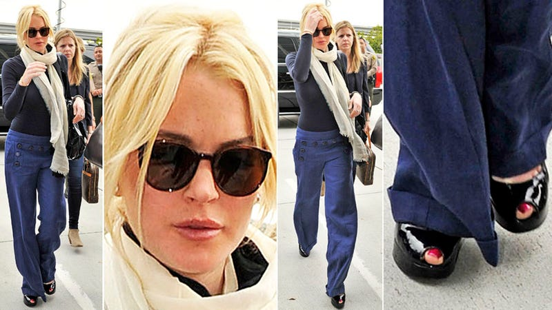 Lindsay Lohan Wears Sailor Pants to Court, Victim Takes Stand
