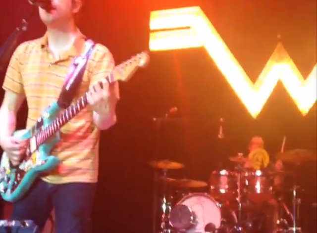 Weezer's Drummer Catches Frisbee During Song, Keeps Playing