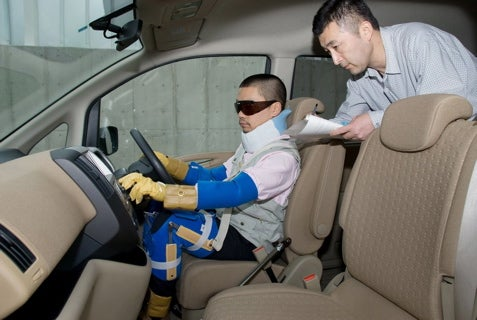 Nissan Engineers Simulate Elderly Experience With Old People Suit