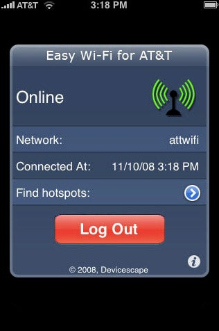 iPhone App Makes Logging On to Free AT&T Wi-Fi Not Suck