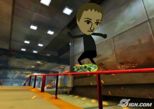 Wii Tony Hawk Rides With Your Mii