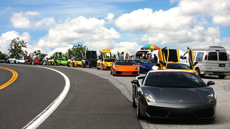 A lasciviousness of Lamborghinis