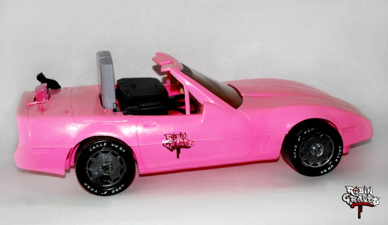 Guy Turns Nintendo 64 Into Hot Pink Barbie Corvette