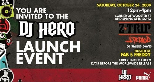 You're Invited: The DJ Hero Launch Party