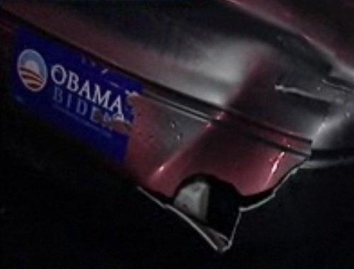 Lunatic Smashes Into Car Over Obama-Biden Bumper Sticker