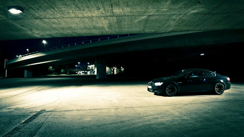 A BMW M3 In The Dark